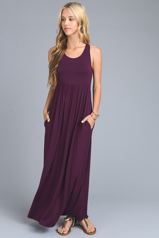 Racerback Maxi Dress (sm black left)