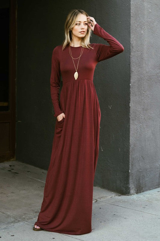 Long Sleeve Maxi  S-XL - Restocked & Colors Added!