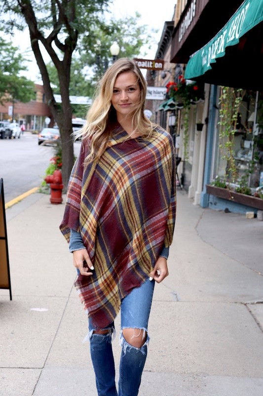 Plaid Poncho - Restocked!