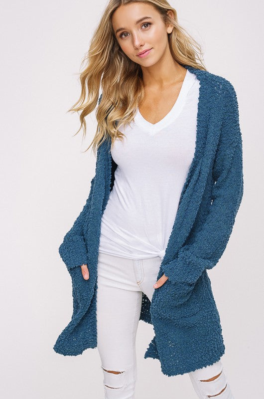 Popcorn Cardigan - Restocked & Colors Added!!