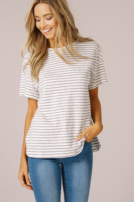 Striped Jersey Top (lg mocha left)