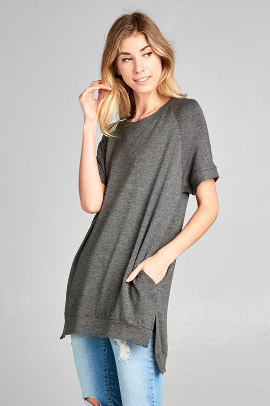 Crewneck Tunic (charcoal left)