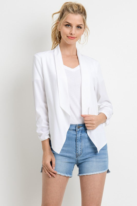 Solid Blazer Jacket (sm white left)