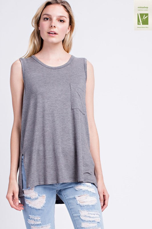 Sleeveless Pocket Top - Restocked and Colors Added!