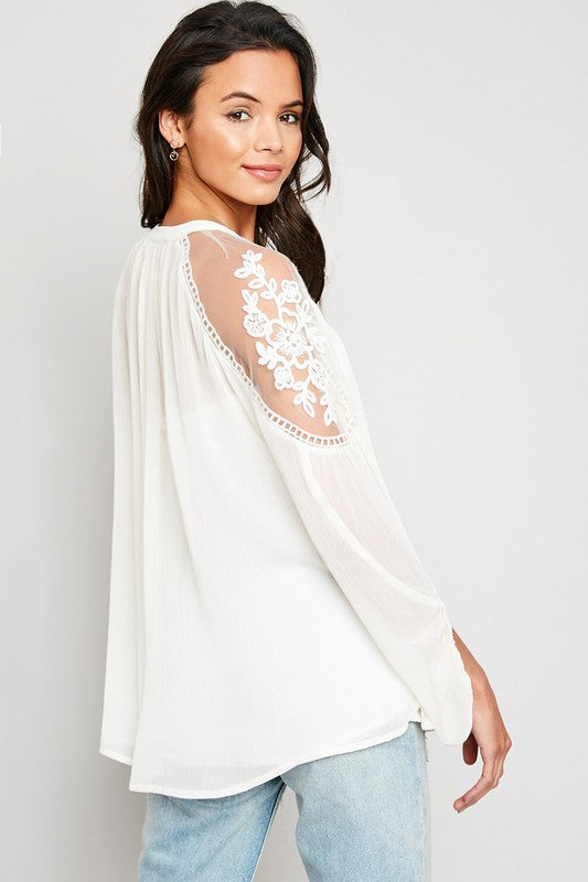 Floral Lace Sheer Top (s/m left)