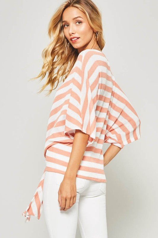 Striped Dolman Tie Top (med left)