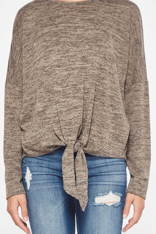 Two Tone Sweater Top  S-XL