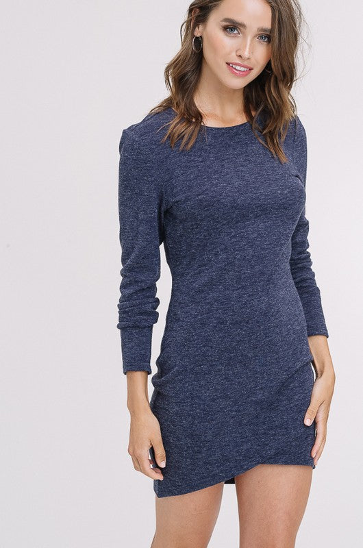 Petal Hem Knit Dress