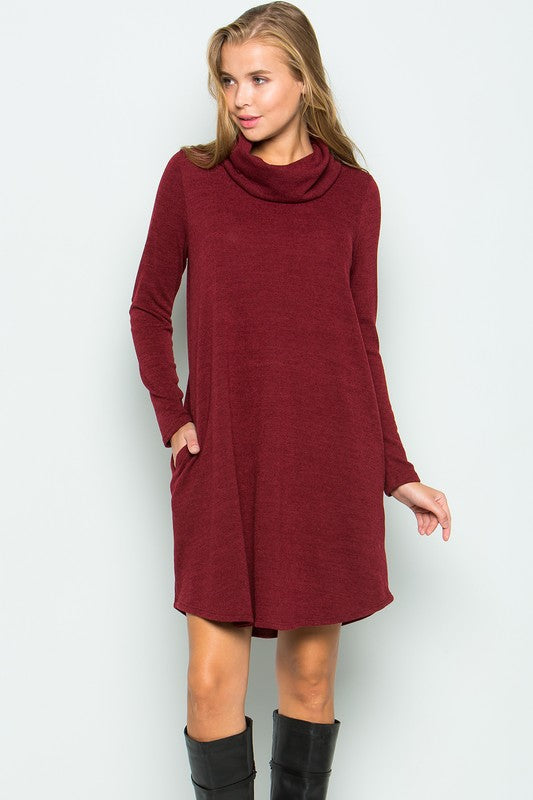 Turtleneck Dress • 3 Colors • S-XL