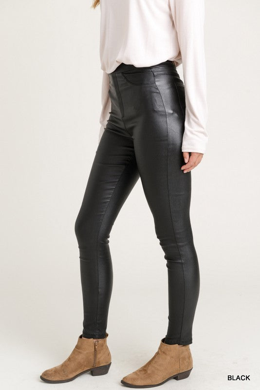 Skinny Leather Leggings