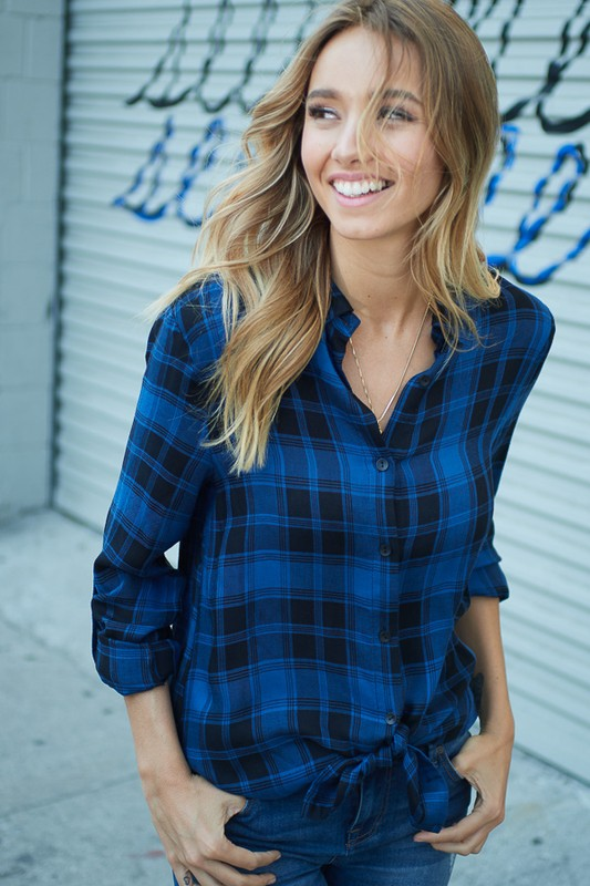 Plaid Button Down Top