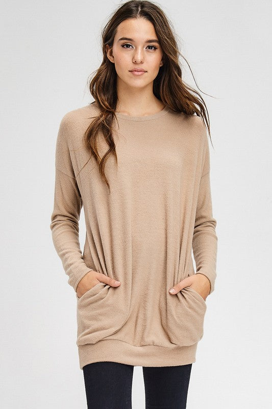 Easy Tunic Top (lg camel left)