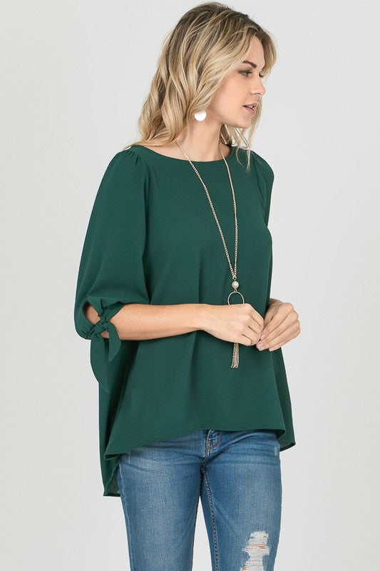 Cuff Tied Blouse