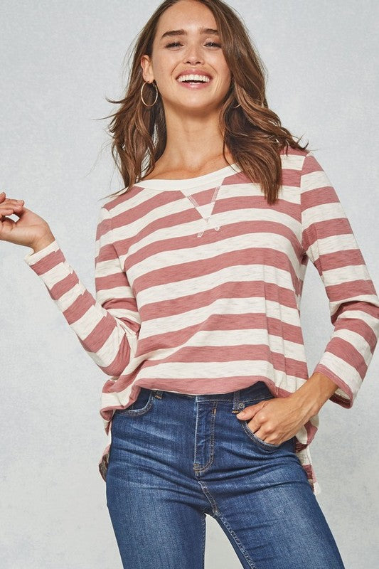 Stripe & Stitches Top