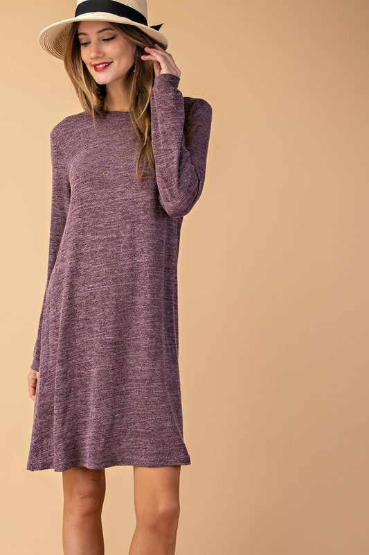 Knit Long Sleeve Dress