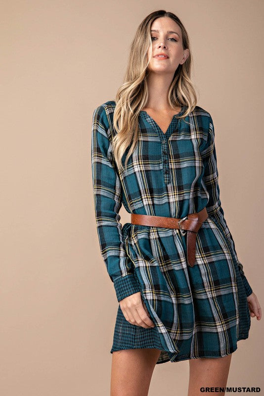 Checker Tunic Dress