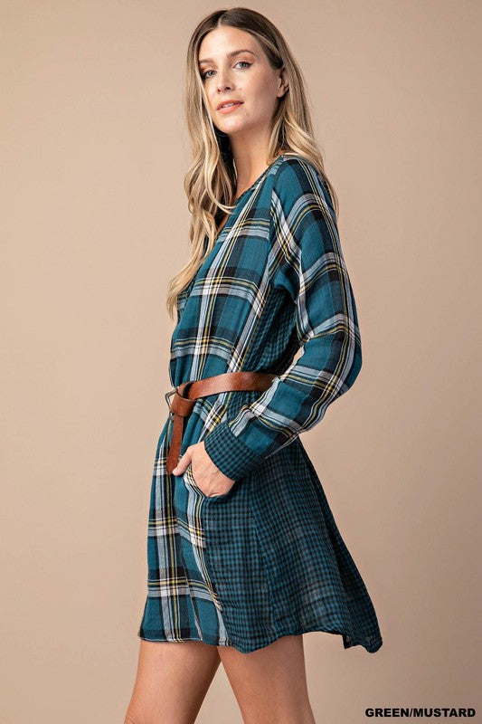 Checker Tunic Dress (lg left)
