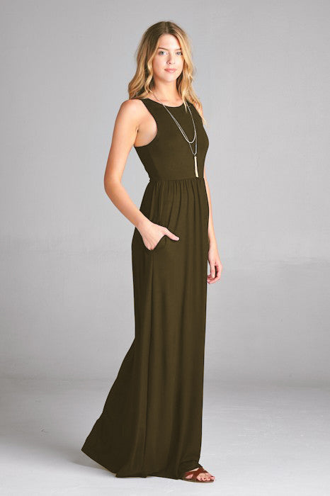 Solid Tank Maxi Dress  S-XL