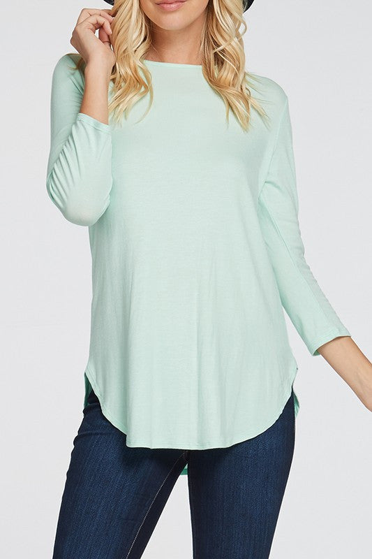 Jersey 3/4 Sleeve Top (1xl - 3xl)