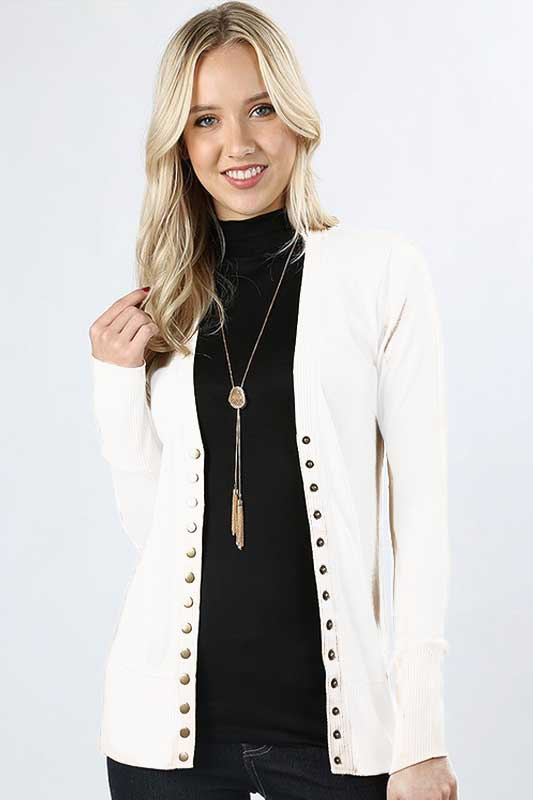 Snap Button Cardigan  S-XL - Restocked -  More Colors Added!
