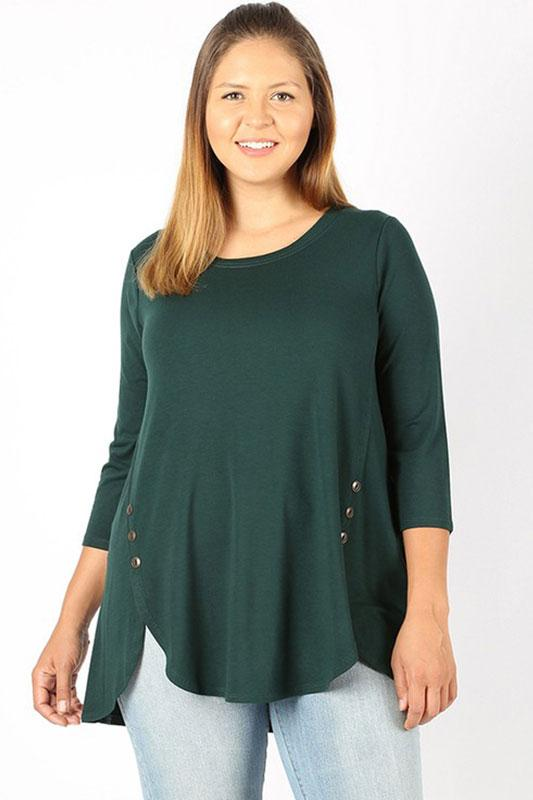 Premium Button Top  1XL-3XL