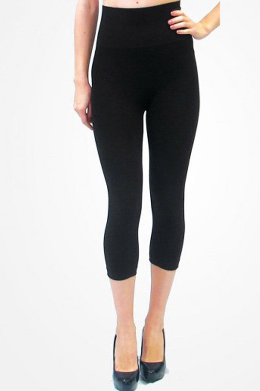 High Waisted Cropped Leggings - Elietian - Restocked!
