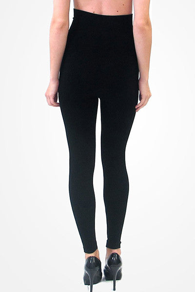High-Waisted Black Leggings - Elietian