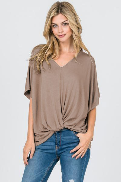 Tied Front Detail Top - Restocked!