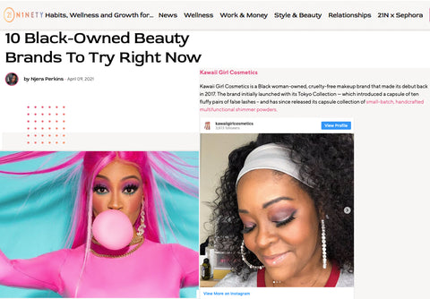 21Ninety KGC Feature for Black-owned Beauty Brands