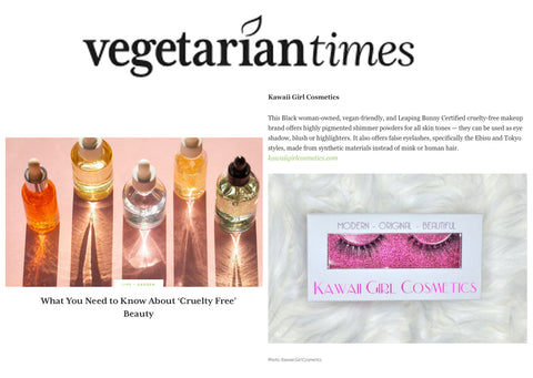 KGC Featured in Vegetarian Times as a Certified Cruelty-free Beauty Brand