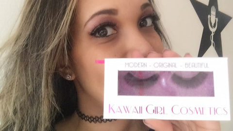 On-air personality Astra of 92.3 Amp Radio with her KGC lashes