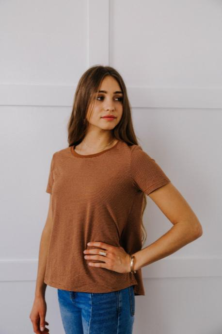 Brownish Striped Tee
