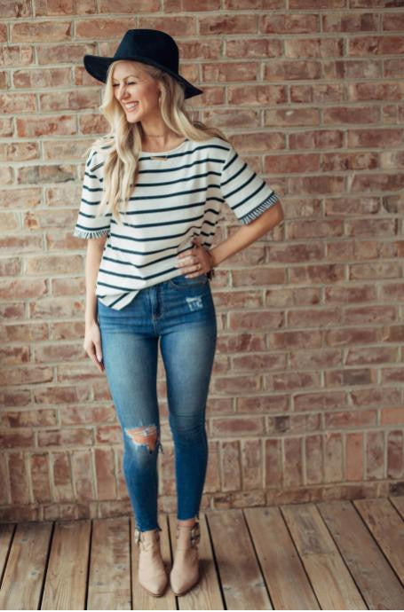 High- rise Skinny Ankle Jean