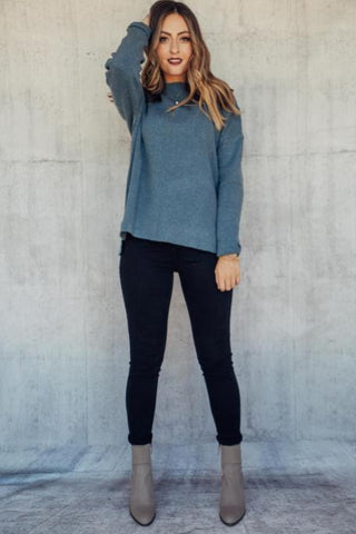 Forrest Green Mock-Neck