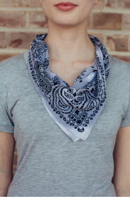 Grey Ombre Square Scarf