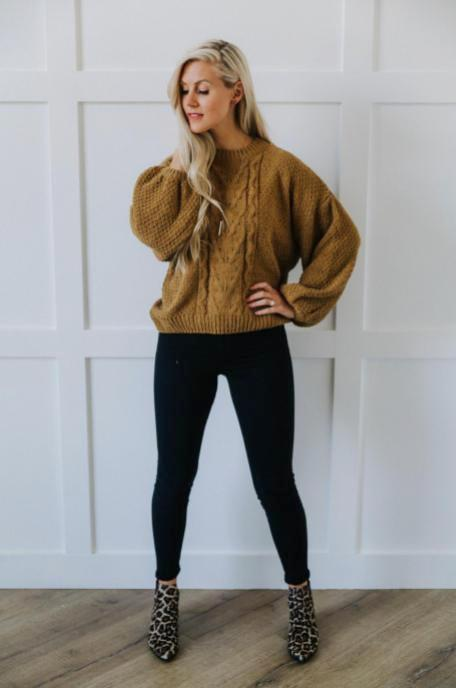 Soft Camel Knit Sweater