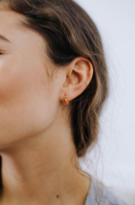Coral Stud Earring