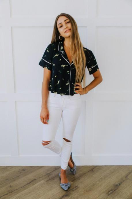 Short Sleeve PJ Blouse