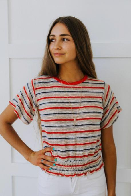 70's Show Knit Top