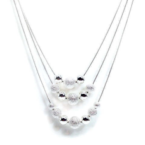 """Anita"" Layer Balls Necklace"