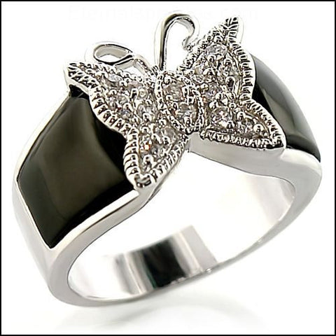 """Belizia"" Butterfly Zirconia Gemstone Ring"