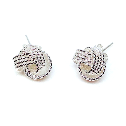 """Bellini"" mesh stud earrings"