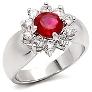 """Bloom"" Ruby Zirconia 2.3 Carats Ring"