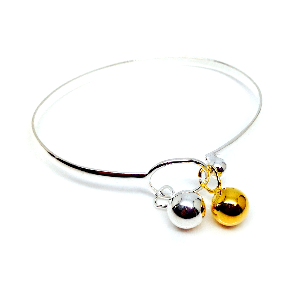 """Locos"" Gold and Silver Balls Bangle"
