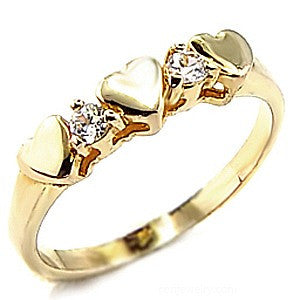 """Lovina"" Gold Zirconia Heart Ring"
