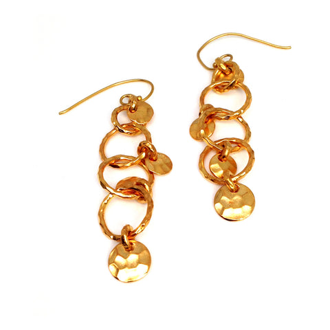 """Mitra"" 18KGP Dangle Earrings"