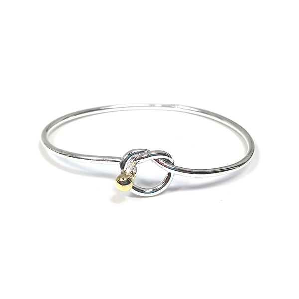 """Lovena"" Love Knot Bangle"