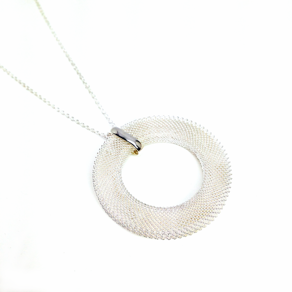 """Bellini"" Infinity Silver Mesh Necklace"