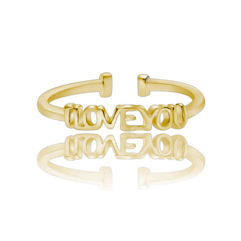 """I love you"" Resize Gold Ring"
