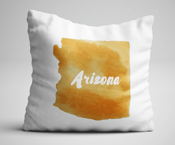 Shop ninety6nine Watercolor State Throw Pillow with State Name, Pillows